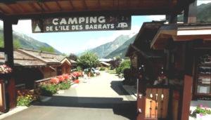 Camping 3 étoiles Île des Barrats – Chamonix Mont Blanc (74)